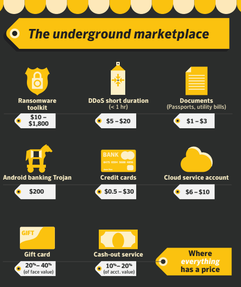 The underground marketplace of cyber criminal